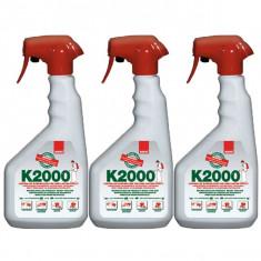 3 x Sano k2000, insecticid universal, otrava gandaci, purici, muste, 3 x 750ml