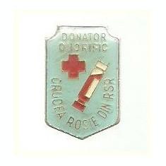 Insigna Crucea Rosie Donator Onorific