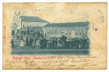 2531 - SALONTA, SYNAGOGUE, Market, litho, Romania - old postcard - used - 1902