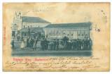 2531 - SALONTA, SYNAGOGUE, Market, litho, Romania - old postcard - used - 1902, Circulata, Printata