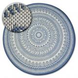 Covor rotund sisal Flat 48695/591 Vitraliu, cerc 120 cm