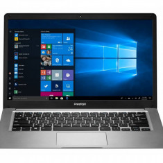 Laptop Prestigio SmartBook 141 C3 14.1 inch HD Intel Atom x5-Z8350 2GB 64GB eMMC Intel HD Graphics Windows 10 Home Dark Grey