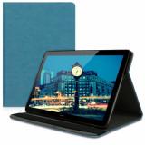 Husa pentru Huawei MediaPad T5, Piele ecologica, Albastru, 46783.78
