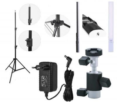 KIT lumina continua Lampa Yongnuo YN360S+ stativ+ alimentator+ suport orientabil pentru stativ foto