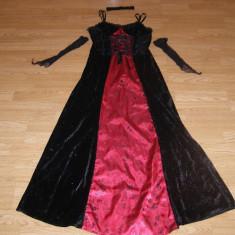 costum carnaval serbare rochie gotica medievala contesa pentru adulti marime S