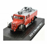 Macheta de colectie, masina de pompieri, RKW 10 Metz MAN 758 L1, rosu, scara 1:72