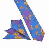 Cumpara ieftin Cravata albastra paisley batista Luhan, ONORE