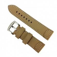 Curea de ceas din piele naturala Crem - 24 mm WZ2870