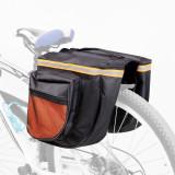 Geanta Dubla pentru Portbagaj Bicicleta, 4 Buzunare, Margini Reflectorizante