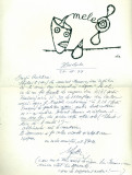 Scrisoare olografa Stefan Baciu datata 26.11.1979