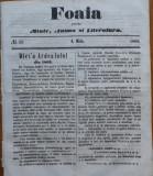 Foaia pentru minte , inima si literatura , nr. 16 , 1863 , Brasov , I. Muresanu