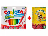 Cumpara ieftin Pachet Special: Carioca Jumbo 12 set + Acadele Mutivitamine Akadika Propolis C 5 buc cut