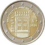NOU - Spania moneda comemorativa 2 euro 2020 - Aragon UNESCO - UNC, Europa