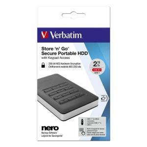 Hard disk extern Verbatim Store n Go 2TB 2.5 inch USB 3.1 Black