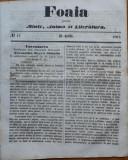 Foaia pentru minte , inima si literatura , nr. 13 , 1863 , Brasov , I. Muresanu