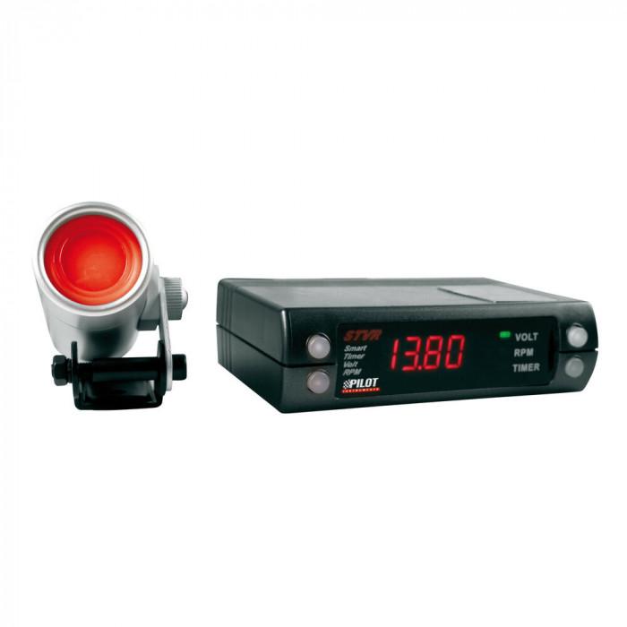 Ceas cu afisaj digital, temporizator, voltmetru si turometru STVR, 12V - Benzina