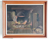Tablou – pictură cu scenă de interior