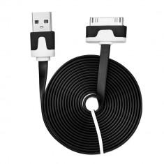 Cablu Date & Incarcare Plat APPLE iPhone 4 (30 Pini) - 2 Metri (Negru)