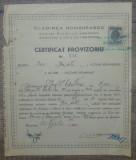 Certificat provizoriu Cladirea Romaneasca, actiuni noimative/ 1947