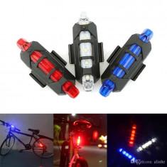 Lumini bicicleta spate cu leduri, lumini de siguranta pe timpul noptii, POLICE