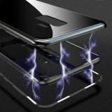 Husa Samsung Galaxy S7 Edge Magnetica Black MyStyle Perfect Fit cu spate de sticla securizata premiu