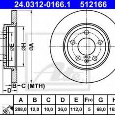 Disc frana AUDI A4 Cabriolet (8H7, B6, 8HE, B7) (2002 - 2009) ATE 24.0312-0166.1