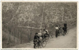 B2179 Turisti romani cu biciclete poza veche comunista