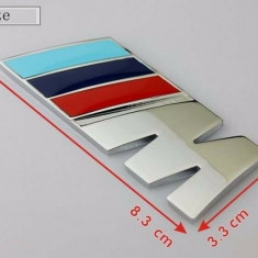 Accesoriu auto  emblema  BMW M power din abs  adeziv profesional inclus