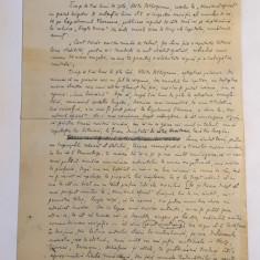 Ion Minulescu - Manuscris 4 pagini, cu semnatura (1936)!