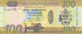 Bancnota Insulele Solomon 100 Dolari (2015) - P36 UNC ( bancnota hibrid )