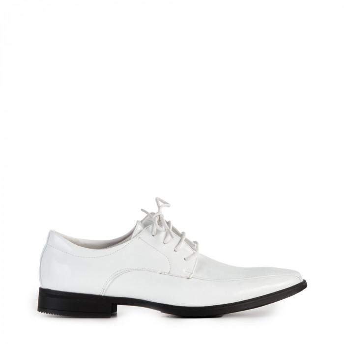Pantofi barbati Darius albi