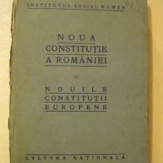 NOUA CONSTITUTIE A ROMANIEI SI NOUILE CONSTITUTII EUROPENE- 1922