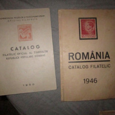 2 cataloage filatelice an 1946 si 1950 x21