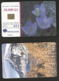 Romania 2001 Telephone card Flowers Mountains Rom 102a CT.042