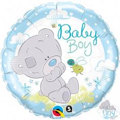 Balon botez Teddy Baby Boy din folie 43cm