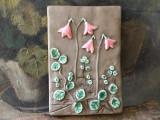 Arta si Decor - Placa din ceramica cu flori design Annika Kihlman / JIE Sweden !