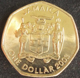 Moneda exotica 1 DOLAR / DOLLAR - JAMAICA, anul 2003 *cod 3992, America de Nord