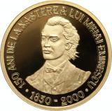 uncie aur ,BNR .24 k,31 gr. 150 de ani de la naşterea poetului Mihai Eminescu