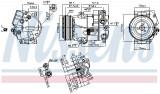 Compresor AC clima CHEVROLET CRUZE; OPEL ASTRA J, ASTRA J GTC, CASCADA, MERIVA B, ZAFIRA C 1.3D 1.6 1.7D dupa 2009