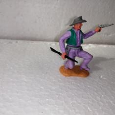 bnk jc Figurina de plastic - Timpo - cowboy cu pistol si pusca