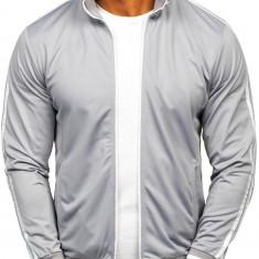 Bluză cu fermoar bărbați gri Bolf 11112
