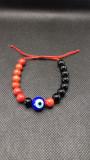 Bratara Unisex, onix, coral rosu si simbolistica - simbol