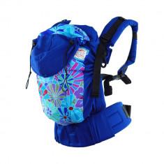 Marsupiu ergonomic SSC Happy Hug, Standard(+6luni) - Blue Flowers