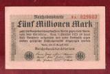 Bancnota Germania  -  REICHSBANKNOTE   - 5.000.000 MARK  1923 #2 Superba stare