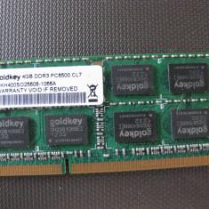 ram laptop  4 gb ddr3 1066 mhz GOLDKEY  PC8500 CL7 ,functional