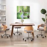 Set tablouri din pânză, imprimeu natură, multicolor, 80 x 80 cm, vidaXL