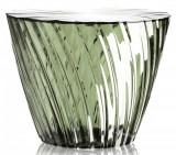 Masuta Kartell Sparkle design Tokujin Yoshioka diametru 45cm h 35cm verde salvie transparent