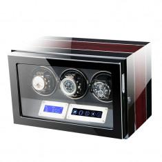 Cutie pentru intors ceasuri automatice iUni, Luxury Watch Winder 3 Mahon