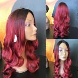 Peruca ombre burgundy