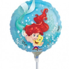 Balon Mini Folie Ariel Dream Big - 23 cm, umflat + bat si rozeta, Amscan 33939
